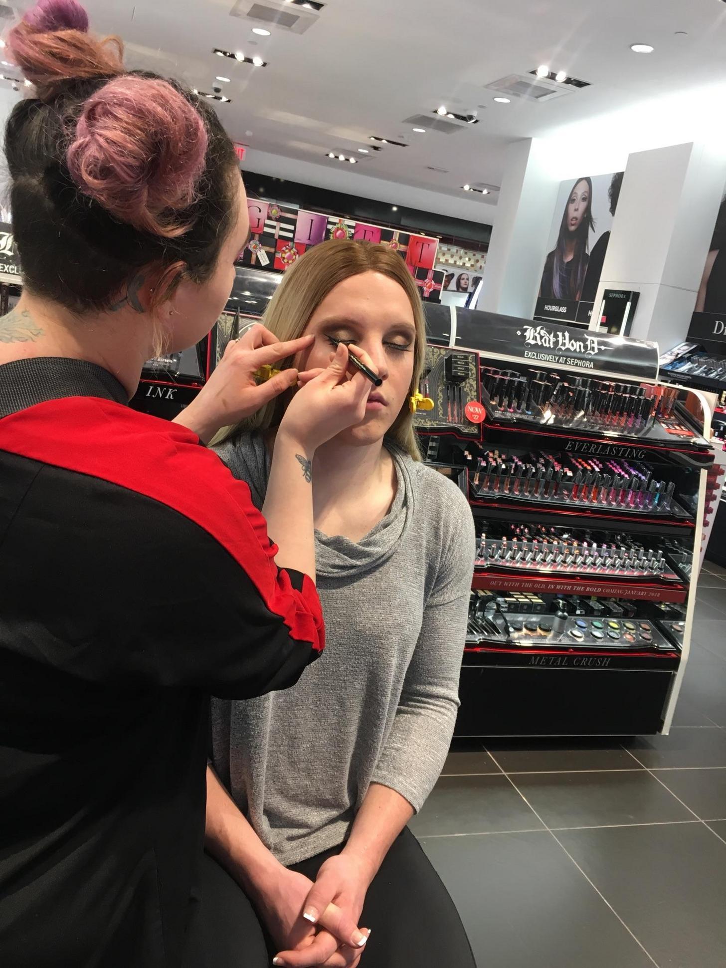 Went to Sephora for a makeover! : crossdressing