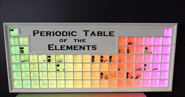 Interactive led periodic table display for my element collection diy urtaz Gallery