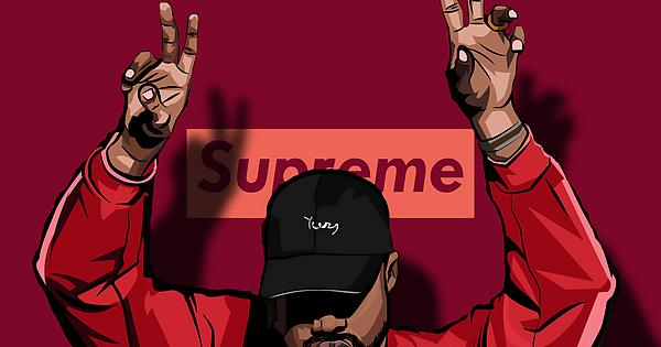 Kanye X Supreme Wallpaper : Supremeclothing