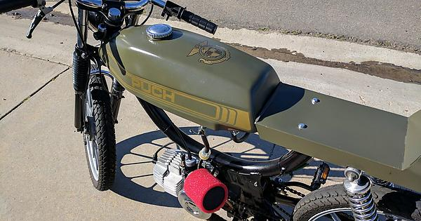 Here it is all finished  My (year unknown) Puch Magnum cafe