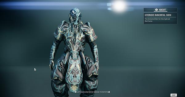 Hydroid And Zephyr Immortal Skins In Game Warframe