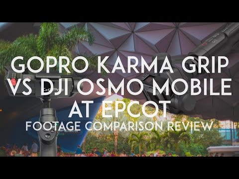 GoPro Karma Grip Vs DJI Osmo Mobile At Epcot Ippy G Medium