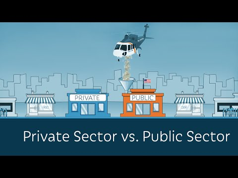 what is the difference between government and private sector