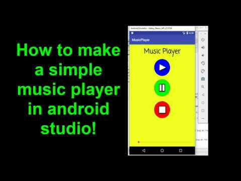 How to make a simple music player in android studio