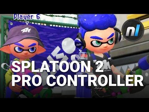 splatoon 2 switch pro controller motion controls gameplay direct