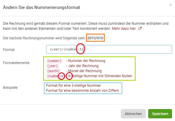 Wie Kann Ich Das Nummerierungsformat ändern Kunden Kommentare Und