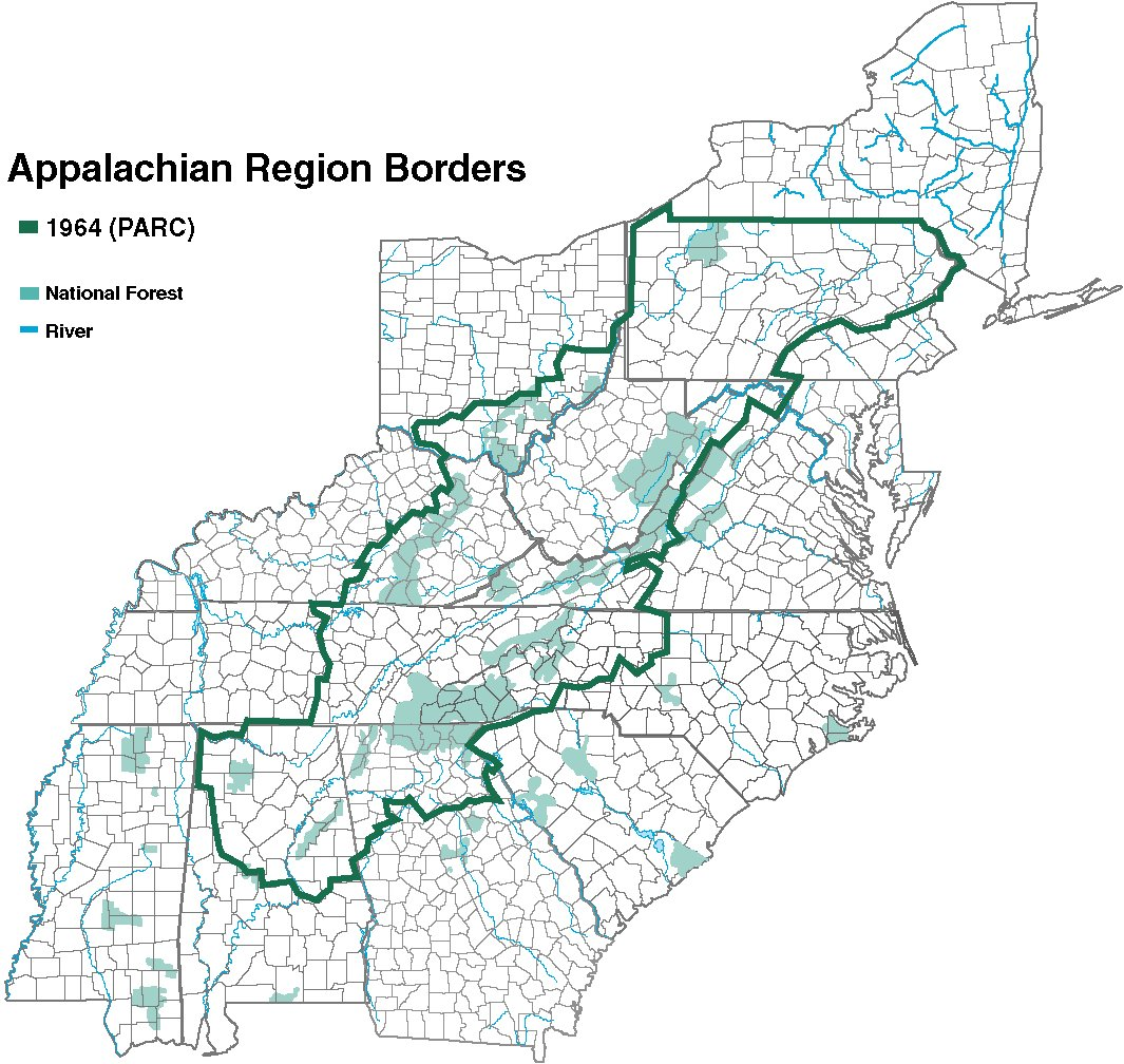 Where Is Appalachia In A State Of Migration Medium - Appalachia map