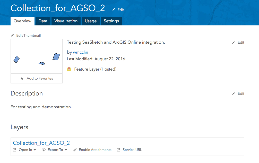 Publishing a Shapefile using ArcGIS Online – Feedback for SeaSketch