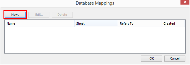 Manually setup a mapping of Excel columns to fields in a SQL Server