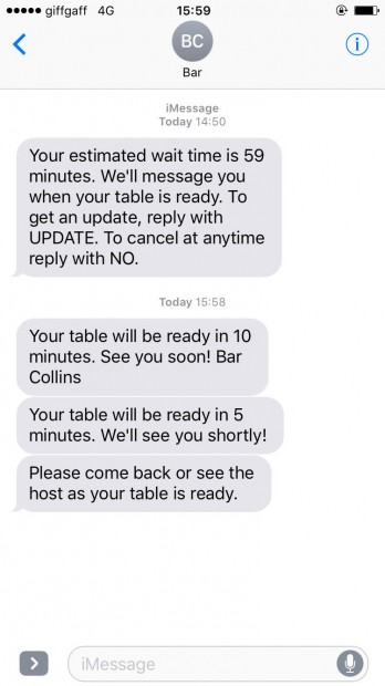 Collins LiveWait - Texts Explained – Collins Customer