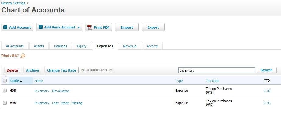 how to create expense acccount in xero